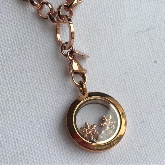 Origami Owl Jewelry   Rose Gold Mini Locket Necklace   Poshmark   580x580